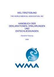 weltärztebund handbuch der deklarationen, erklärungen und ...