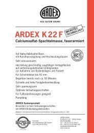 ARDEX K22 F Calciumsulfat-Spachtelmasse, faserarmiert