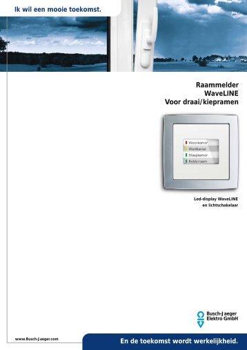 Raammelder WaveLINE Voor draai/kiepramen - Busch-Jaeger ...