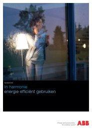 In harmonie energie efficiënt gebruiken