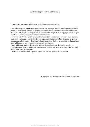Les Bibliothèques Virtuelles Humanistes technique et administrative ...