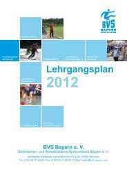 Lehrgangsplan - Behinderten- und Versehrten-Sportverband Bayern ...