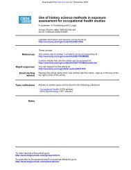 assessment for occupational health studies Use of history ... - BVSDE