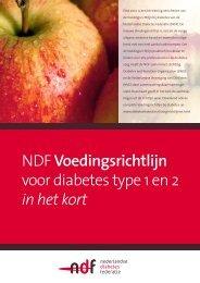 NDF Voedingsrichtlijn voor diabetes type 1 en 2 in het kort