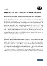 persbericht_C&A Europe blijft terrein veroveren in een dalende ...