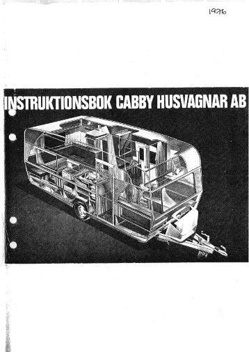 Instruktionsbok Cabby 1976 - Cabby Caravan AB