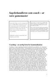 Sagsbehandleren som coach – at være gamemaster - Cabi