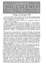 Verslag over het jaar 1919. - Au Cactus Francophone