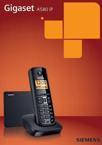 Siemens Gigaset A580 IP DECT handleiding - Callvoip