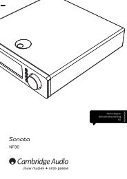 AP256501 CA Sonata NP30 User's Manual - 06 ... - Cambridge Audio