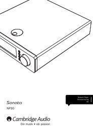 AP256501 CA Sonata NP30 User's Manual - 07 ... - Cambridge Audio