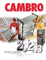 product catalogus - Cambro