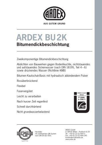 ARDEX BU2K Bitumendickbeschichtung