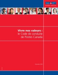 le Code de conduite de Postes Canada - Canada Post