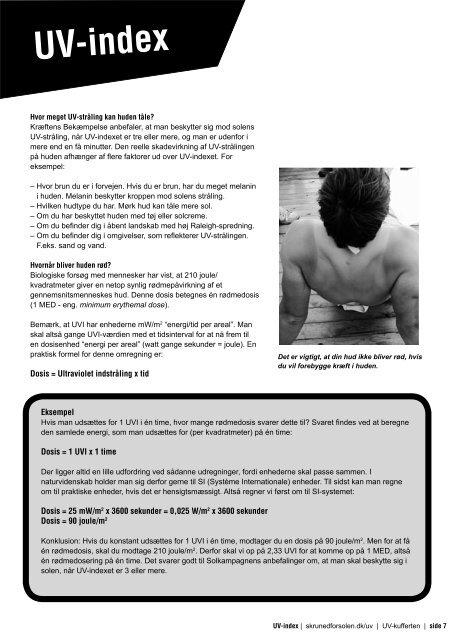 Uv-indeks - Kræftens Bekæmpelse