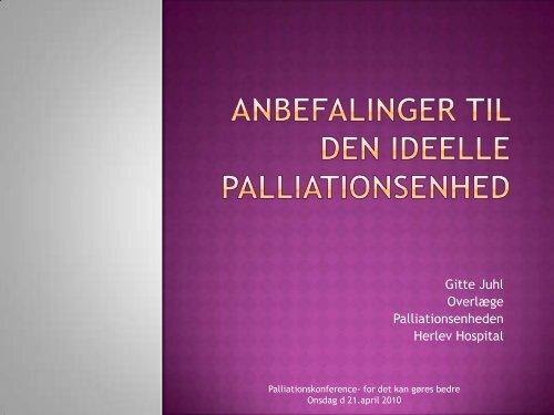Ideelle Palliative Enhed