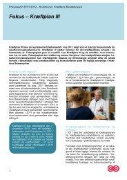 Fokuspapir - Kræftplan III - Kræftens Bekæmpelse