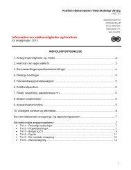 Information om støttemuligheder og formkrav - Kræftens Bekæmpelse