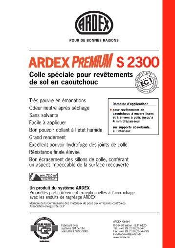 Colle spéciale pour revêtements de sol en caoutchouc S 2300 - Ardex