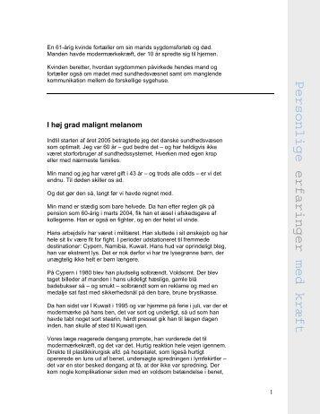 Modermærkekræft med spredning til hjernen (pdf) - Kræftens ...