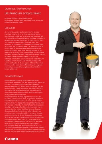 Case Study Druckhaus Scharmer GmbH [PDF, 908 KB] - Canon