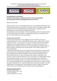 Lees het hele essay - Canon Sociaal Werk