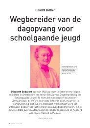 Elisabeth Boddaert, wegbereider van de dagopvang voor