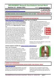 Nieuwsbrief nr. 12, oktober 2012 - Canon Sociaal Werk