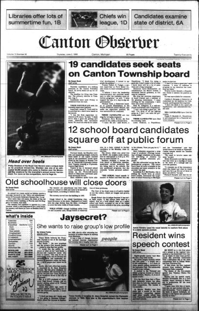 Canton Observer For June 2 1988 Canton Public Library