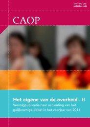 Het eigene van de overheid - II - CAOP