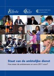 O&A 2011 - 29 | Staat van de ambtelijke dienst - CAOP