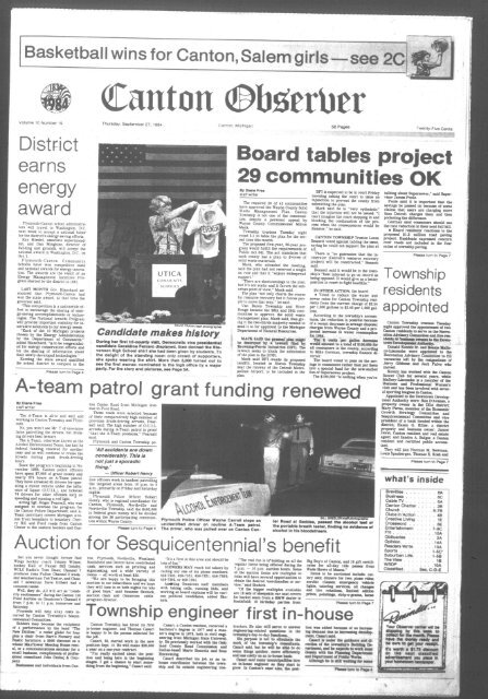 Canton Observer For September 27 1984 Canton Public Library