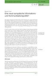 Eine neue europäische Informations- und Kommunikationspolitik?