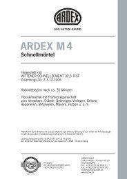 ARDEX M 4 Schnellmörtel