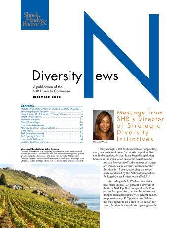 Diversity News - December 2010 - Shook, Hardy & Bacon LLP