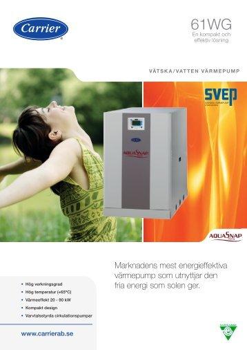 Marknadens mest energieffektiva värmepump som utnyttjar ... - Carrier