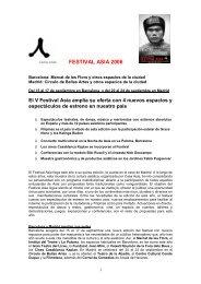 FESTIVAL ASIA 2006 - Casa Asia