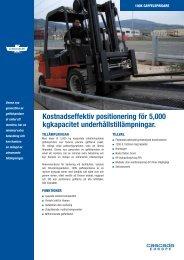 Kostnadseffektiv positionering för 5,000 kgkapacitet ...