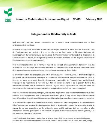 Resource Mobilization Information Digest No 449 February 2013 ...