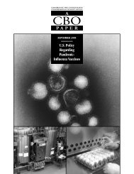 US Policy Regarding Pandemic-Influenza Vaccines - Congressional ...