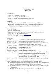 Download CV as PDF - CBS