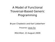 A Model of Functional Traversal-Based Generic Programming