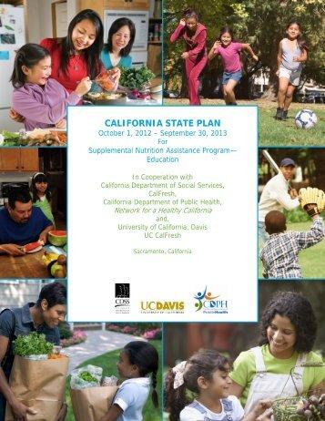 CALIFORNIA STATE PLAN - California Department of Public Health ...