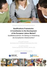 Qualifications Frameworks: A Contribution to the ... - Cedefop - Europa