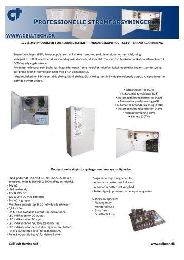 ADGANGSKONTROL – CCTV – BRAND ALARME - CellTech ...