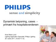 Dynamisk belysning, cases fra hospitalsverdenen - Dansk Center for ...