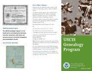 USCIS Genealogy Program - U.S. Census Bureau
