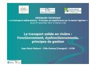 Le transport solide en rivière - Centre de ressources Loire nature