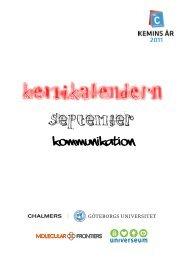 September: Kommunikation - Svenska Kemistsamfundet