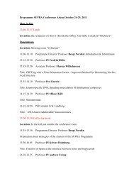 Programme SUPRA Conference Arken November 1-2